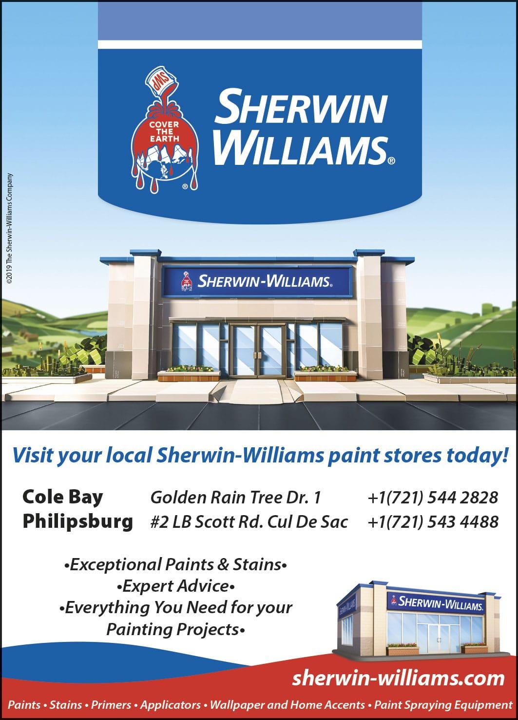 St Maarten Telephone Directory - Sherwin Williams