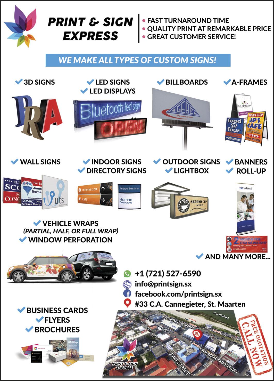 St Maarten Telephone Directory - Print & Sign Express