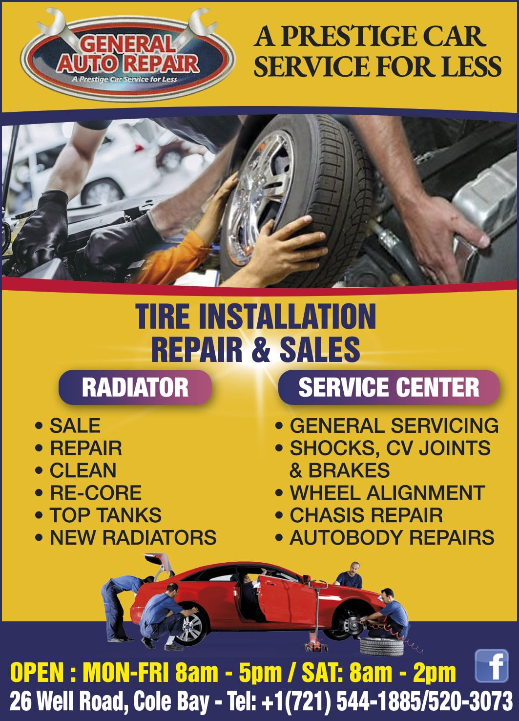 St Maarten Telephone Directory - General Auto Repair