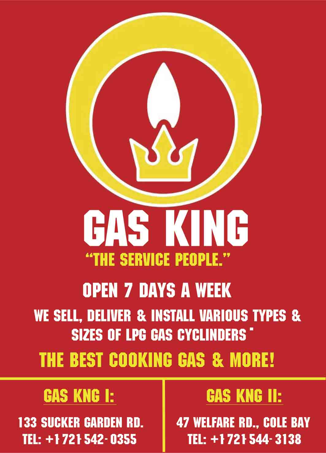 St Maarten Telephone Directory - Gas King