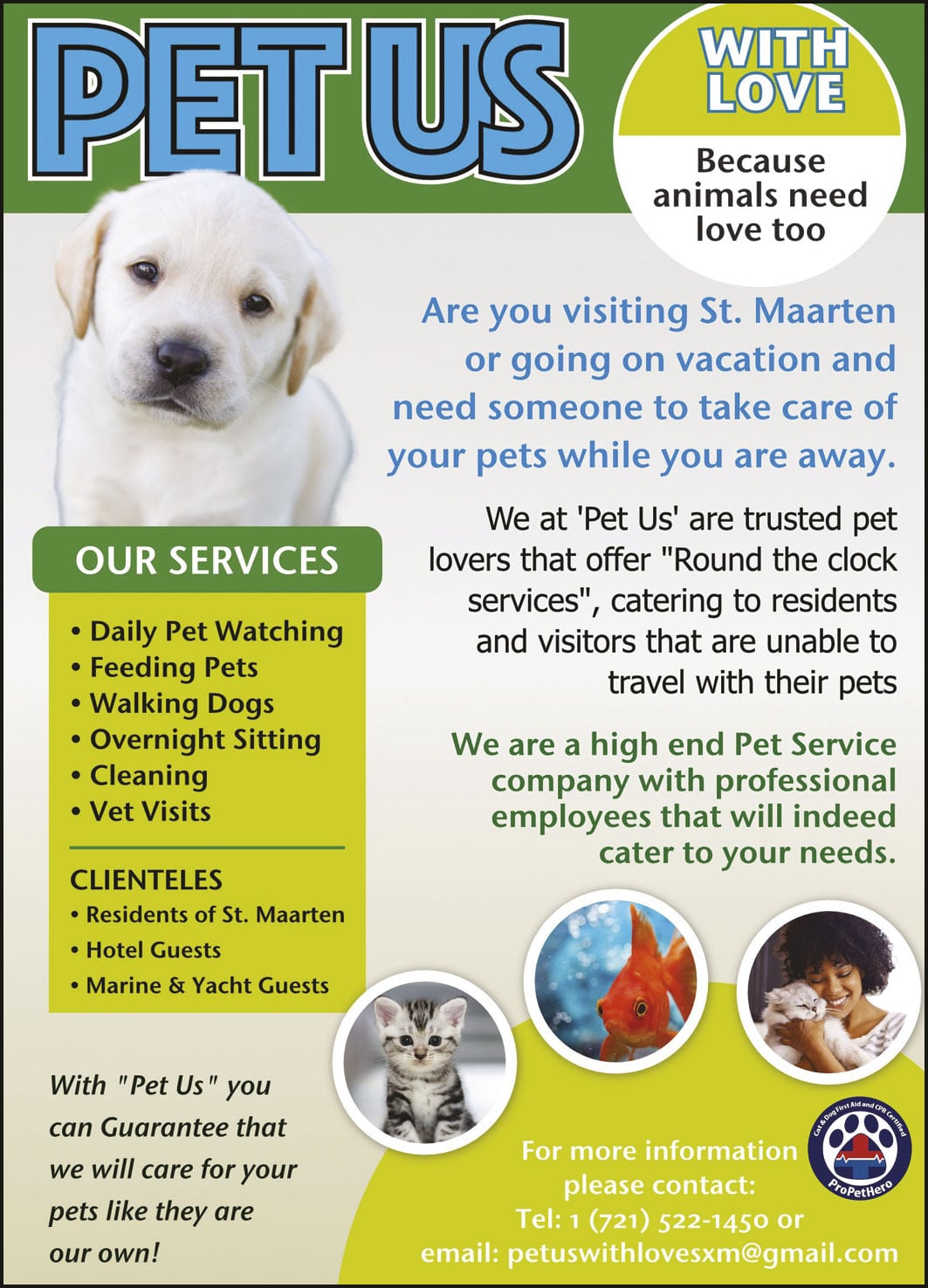 St Maarten Telephone Directory - Pet Us